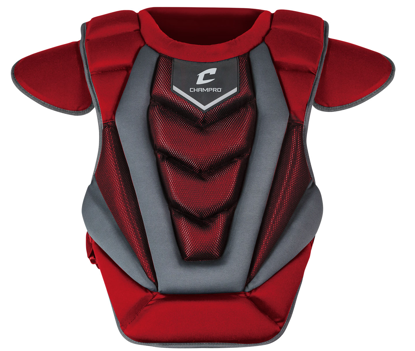 "Picture of Optimus Pro Chest Protector 16.5"" SCARLET"