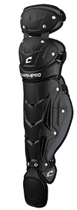 "Picture of Optimus Pro Leg Guards Double Knee Senior League 14 1/2"" Shin Length BLACK"