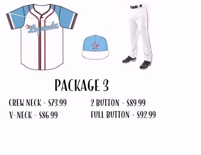 Picture of Baseball Uniform Package 3