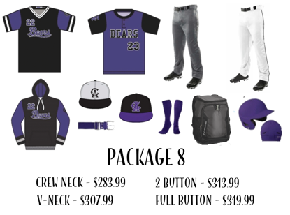 Picture of Baseball Uniform Package 8